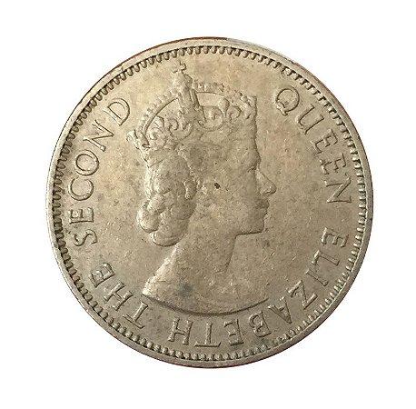 Moeda Antiga do East Africa 50 Cents 1955