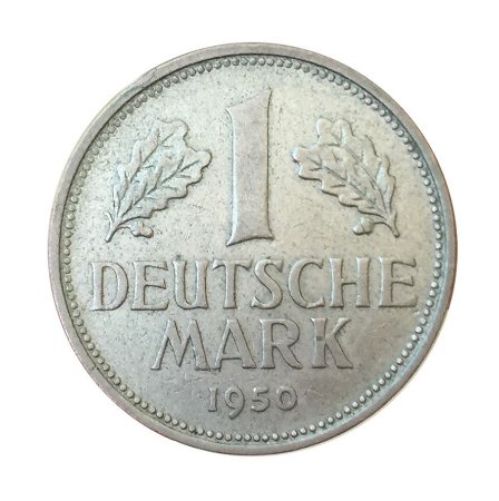 Moeda Antiga da Alemanha 1 Deutsche Mark 1950 D