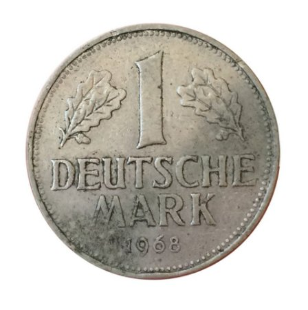 Moeda Antiga da Alemanha 1 Deutsche Mark 1968 J