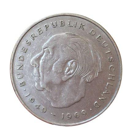 Moeda Antiga da Alemanha 2 Deutsche Mark 1979 D