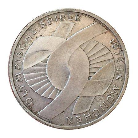 Moeda Antiga da Alemanha 10 Deutsche Mark 1972 J