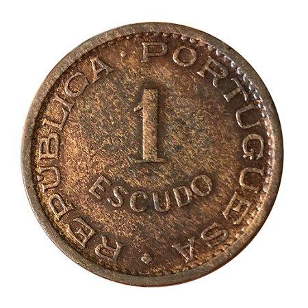 Moeda Antiga da Angola 1 Escudo 1972