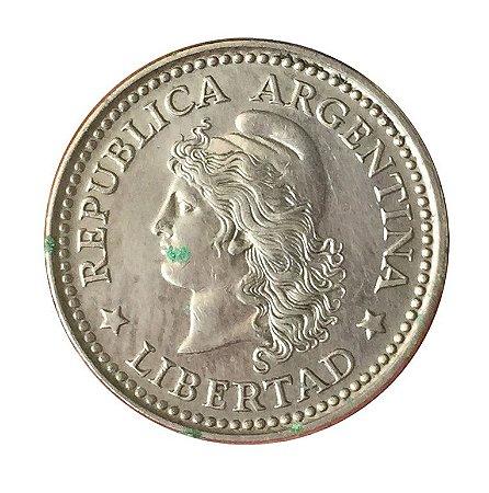 Moeda Antiga da Argentina 10 Centavos 1958