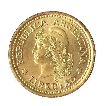 Moeda Antiga da Argentina 50 Centavos 1970