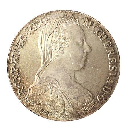 Moeda Antiga da Áustria Thaler 1780 Restrike