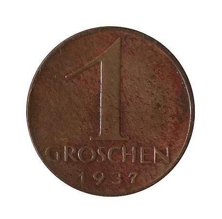 Moeda Antiga da Áustria 1 Groschen 1937