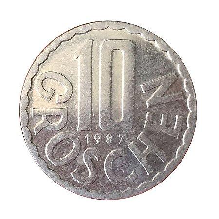 Moeda Antiga da Áustria 10 Groschen 1987