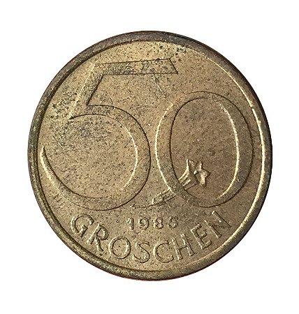 Moeda Antiga da Áustria 50 Groschen 1985