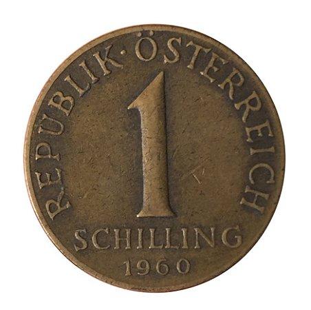 Moeda Antiga da Áustria 1 Schilling 1960