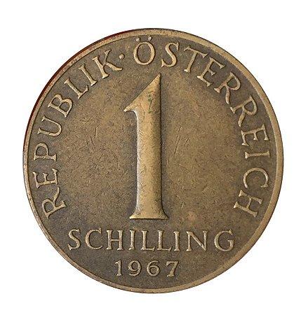 Moeda Antiga da Áustria 1 Schilling 1967