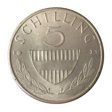 Moeda Antiga da Áustria 5 Schilling 1971