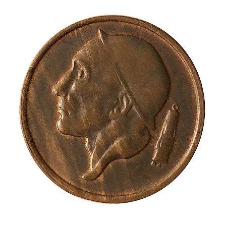 Moeda Antiga da Bélgica 50 Centimes 1955