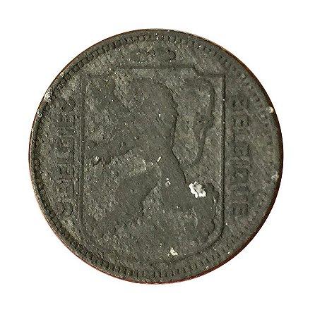 Moeda Antiga da Bélgica 1 Franc 1943 - Bélgica - ocupação alemã na II Guerra