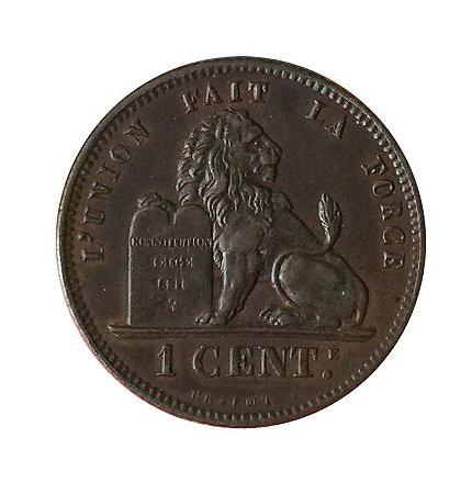 Moeda Antiga da Bélgica 1 Centime 1873