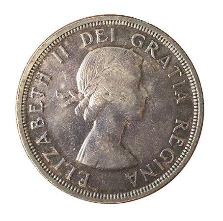 Moeda Antiga do Canadá Dollar 1953