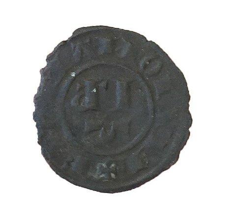 Moeda Antiga da Itália 1 Denaro 1231-1250 (Messina)