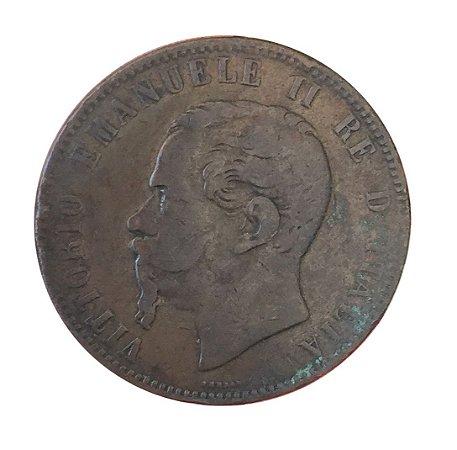 Moeda Antiga da Itália 10 Centesimi 1866 H