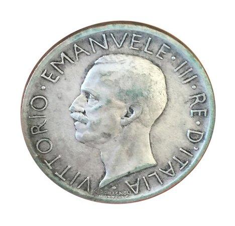 Moeda Antiga da Itália 5 Lire 1927 R