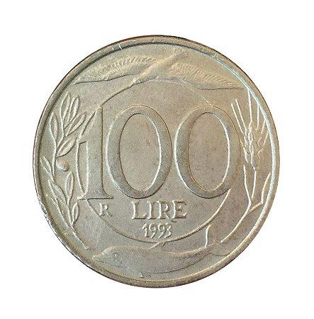 Moeda Antiga da Itália 100 Lire 1993 R