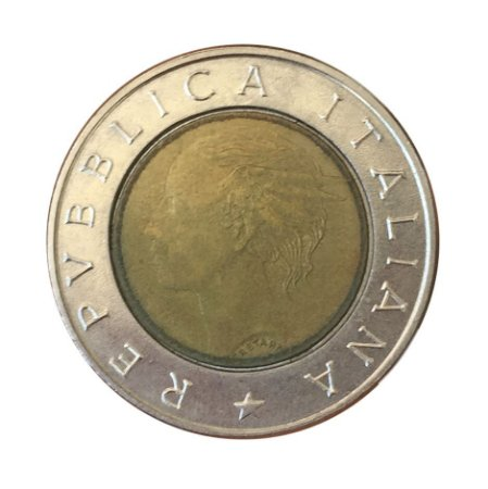 Moeda Antiga da Itália 500 Lire 1992 R