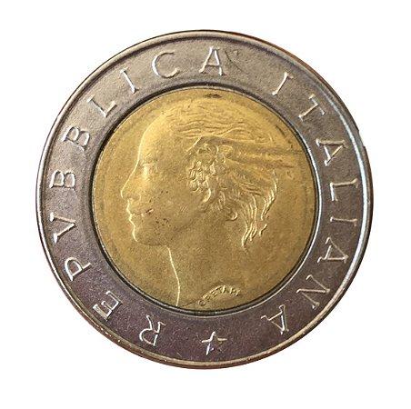 Moeda Antiga da Itália 500 Lire 1993 R