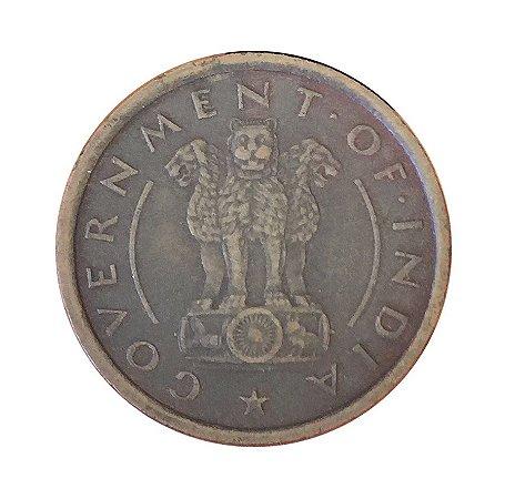 Moeda Antiga da Índia Britânica Pice 1950