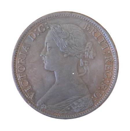 Moeda Antiga da Inglaterra Farthing 1872