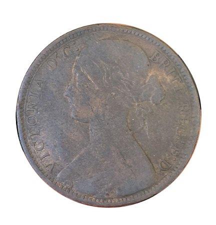Moeda Antiga da Inglaterra Penny 1867