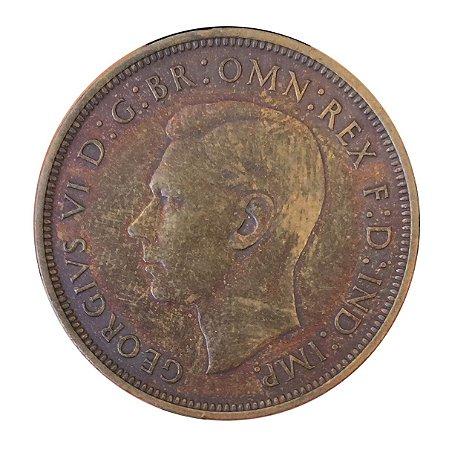 Moeda Antiga da Inglaterra Penny 1938