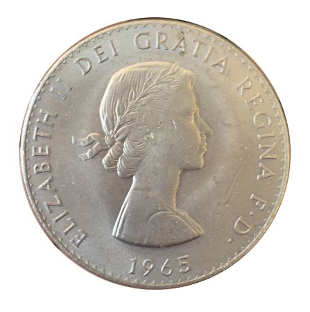 Moeda Antiga da Inglaterra Crown 1965 - Churchill