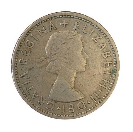 Moeda Antiga da Inglaterra Two Shillings 1954