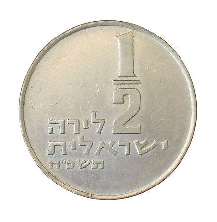 Moeda Antiga de Israel 1/2 Lira 1968 J