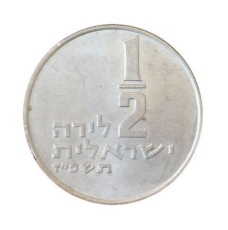 Moeda Antiga de Israel 1/2 Lira 1967 J