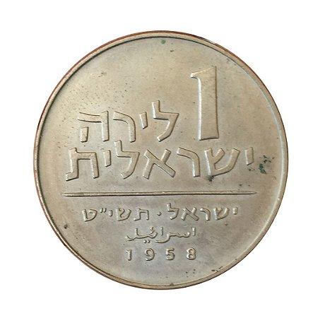 Moeda Antiga de Israel 1 Lira 1958
