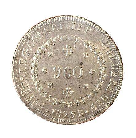Moeda Antiga do Brasil Império 960 Réis 1825 R