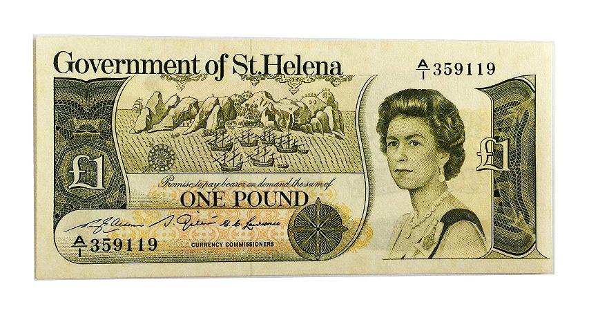 Cédula Antiga de St. Helena 1 Pound 1981