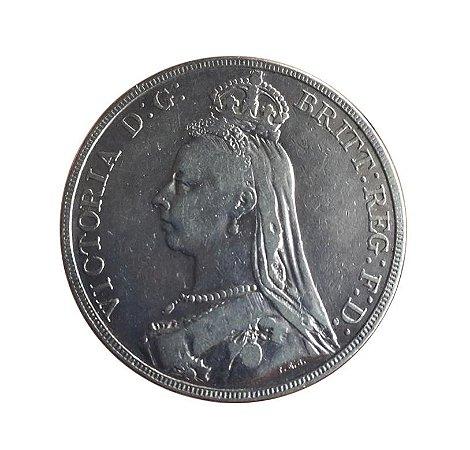 Moeda Antiga da Inglaterra Crown 1889