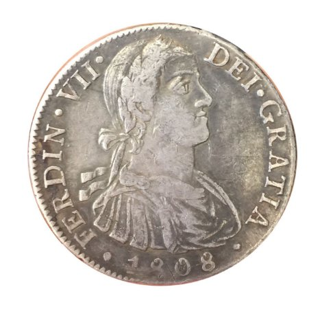 Moeda Antiga do México 8 Reales 1808