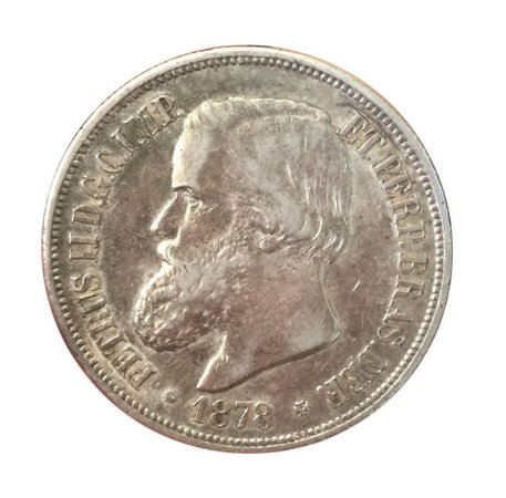 Moeda Antiga do Brasil 1000 Réis 1878