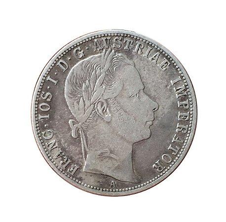 Moeda Antiga da Áustria 1 Florin 1859 A