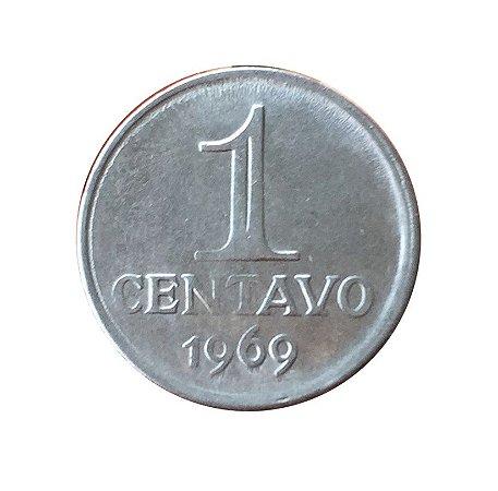 Moeda Antiga do Brasil 1 Centavo de Cruzeiro 1969