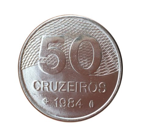 Moeda Antiga do Brasil 50 Cruzeiros 1984 - Plano Piloto de Brasília
