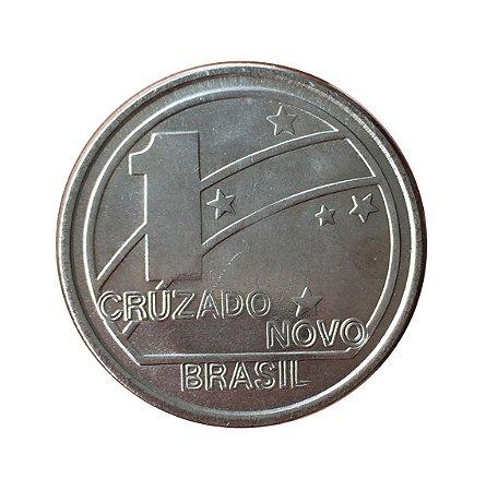 Moeda Antiga do Brasil 1 Cruzado Novo 1989 - Comemorativo do Centenário da República