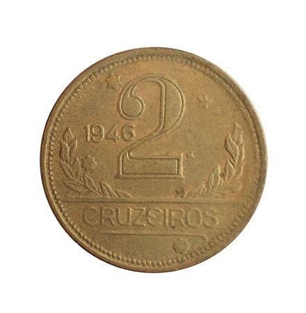 Moeda Antiga do Brasil 2 Cruzeiros 1946