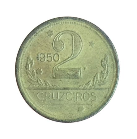 Moeda Antiga do Brasil 2 Cruzeiros 1950