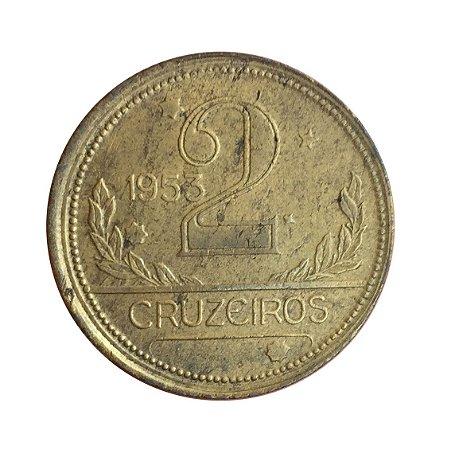 Moeda Antiga do Brasil 2 Cruzeiros 1953 - Boné