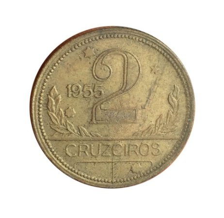 Moeda Antiga do Brasil 2 Cruzeiros 1955
