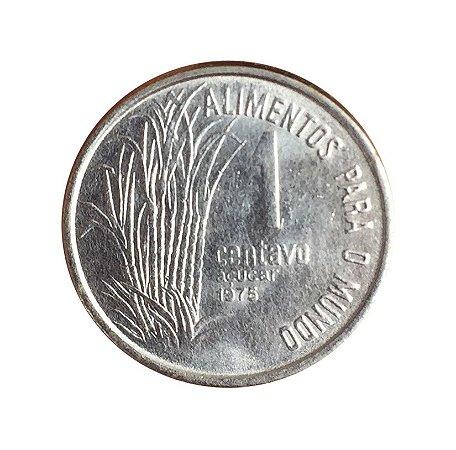 Moeda Antiga do Brasil 1 Centavo de Cruzeiro 1975 - FAO - Açúcar