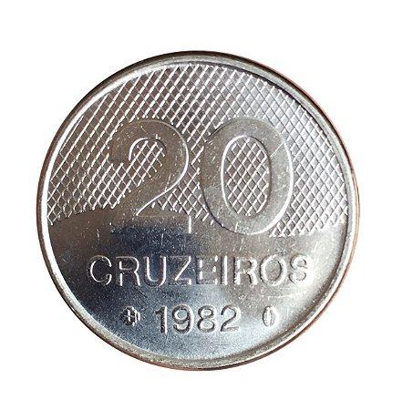 Moeda Antiga do Brasil 20 Cruzeiros 1982 - Igreja
