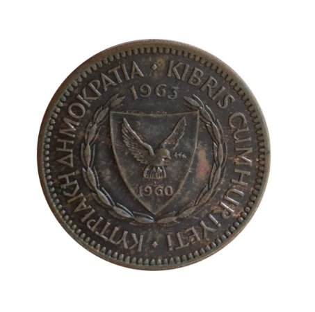 Moeda Antiga de Chipre 5 Mils 1963